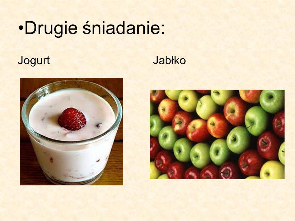 Drugie śniadanie: JogurtJabłko