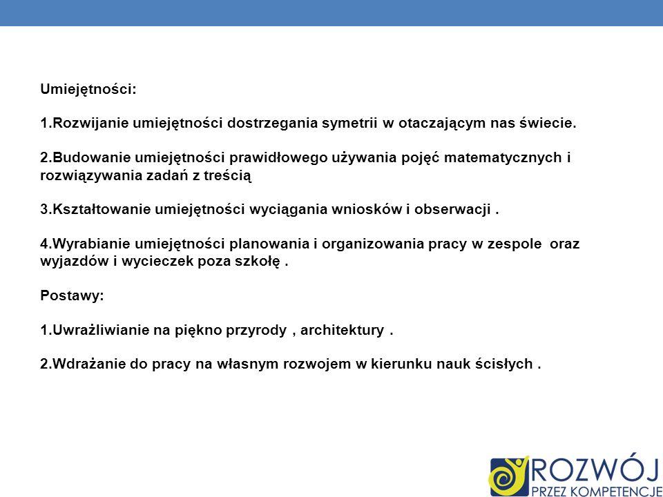 II.Zaplanowane zadania.1.Zapoznanie się z symetrią względem osi i względem punktu.