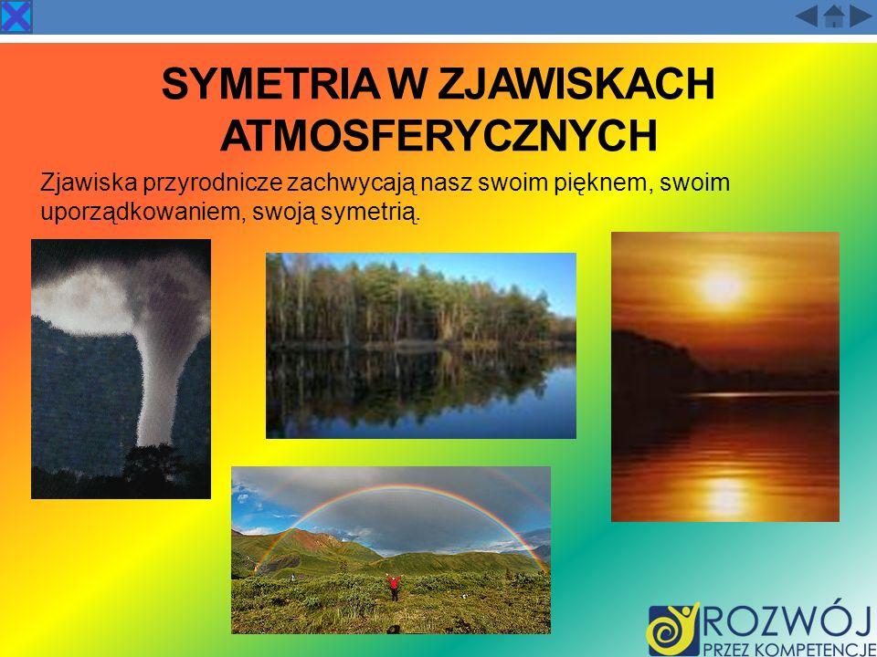 SYMETRIA W ZJAWISKACH ATMOSFERYCZNYCH Zjawiska przyrodnicze zachwycają nasz swoim pięknem, swoim uporządkowaniem, swoją symetrią.