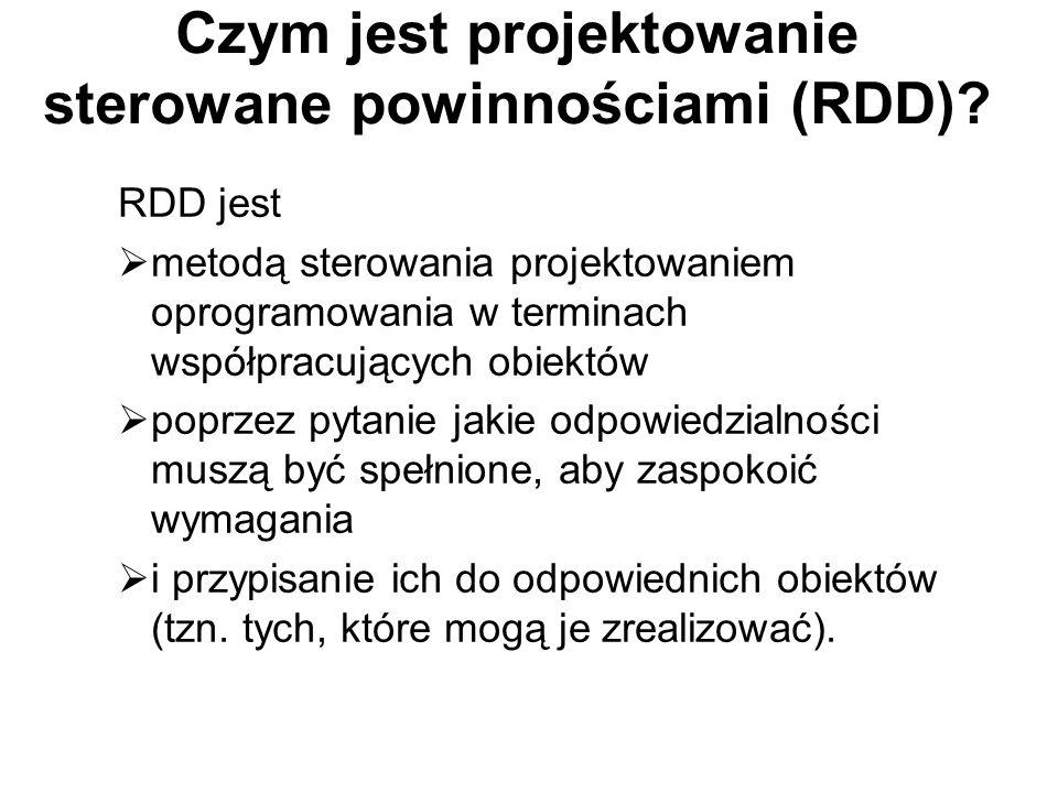 Czym jest projektowanie sterowane powinnościami (RDD).