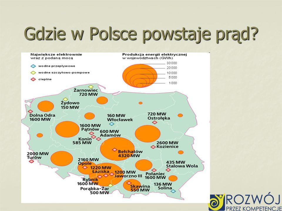 Gdzie w Polsce powstaje prąd?