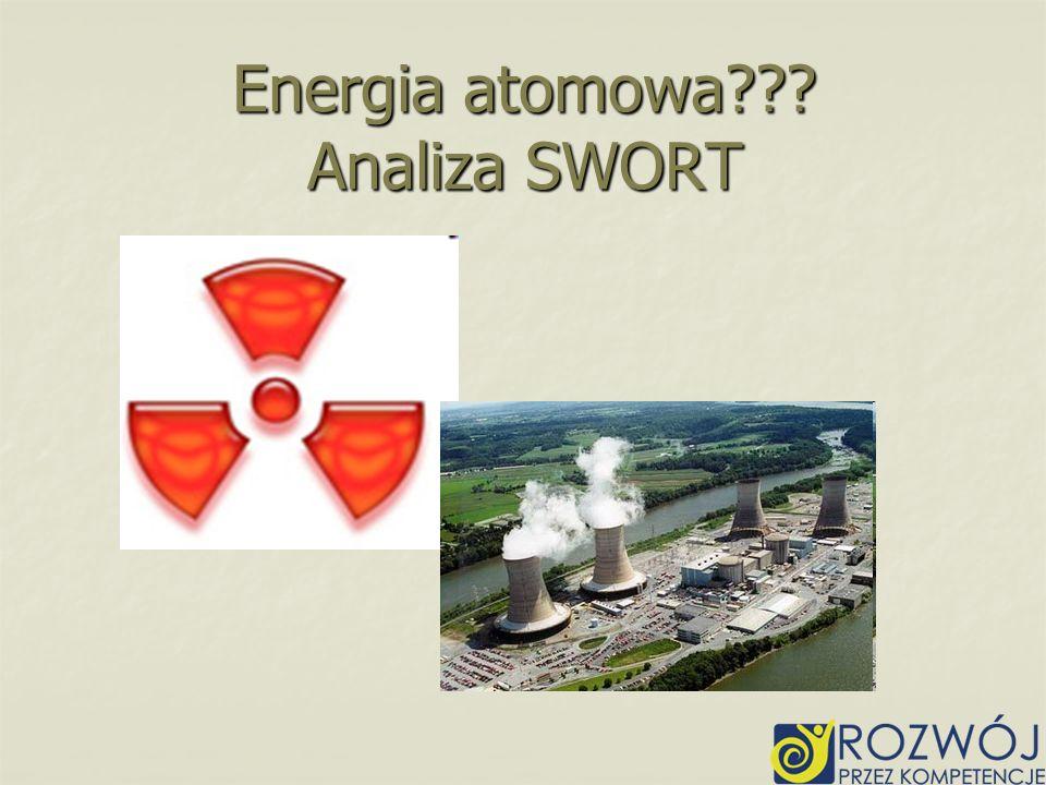 Energia atomowa??? Analiza SWORT