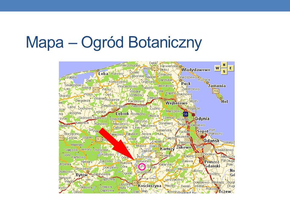 Mapa – Ogród Botaniczny