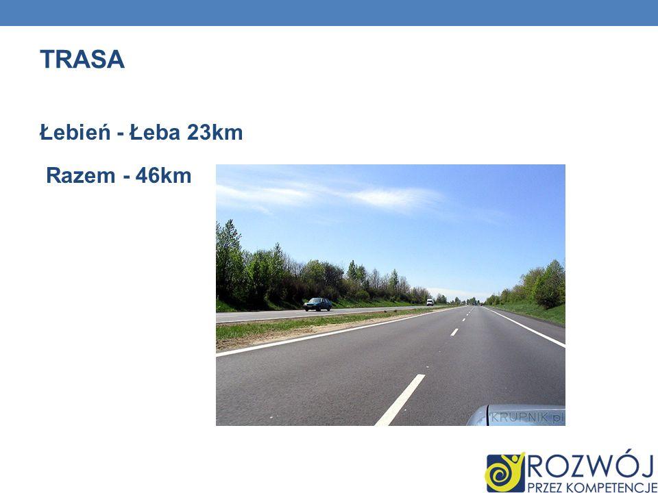 TRASA Łebień - Łeba 23km Razem - 46km