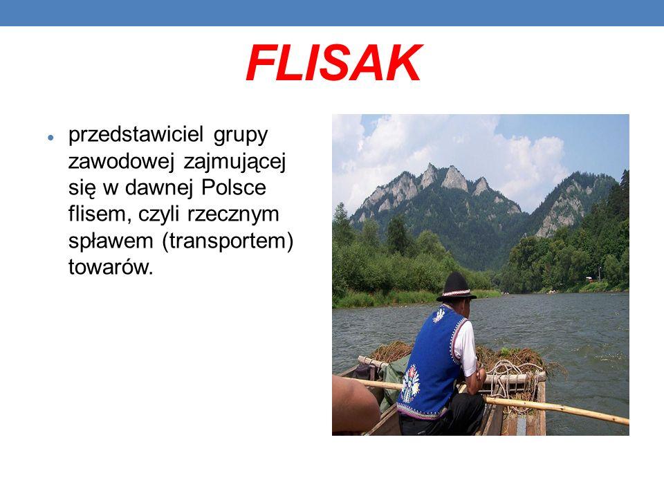 FLISAK przedstawiciel grupy zawodowej zajmującej się w dawnej Polsce flisem, czyli rzecznym spławem (transportem) towarów.