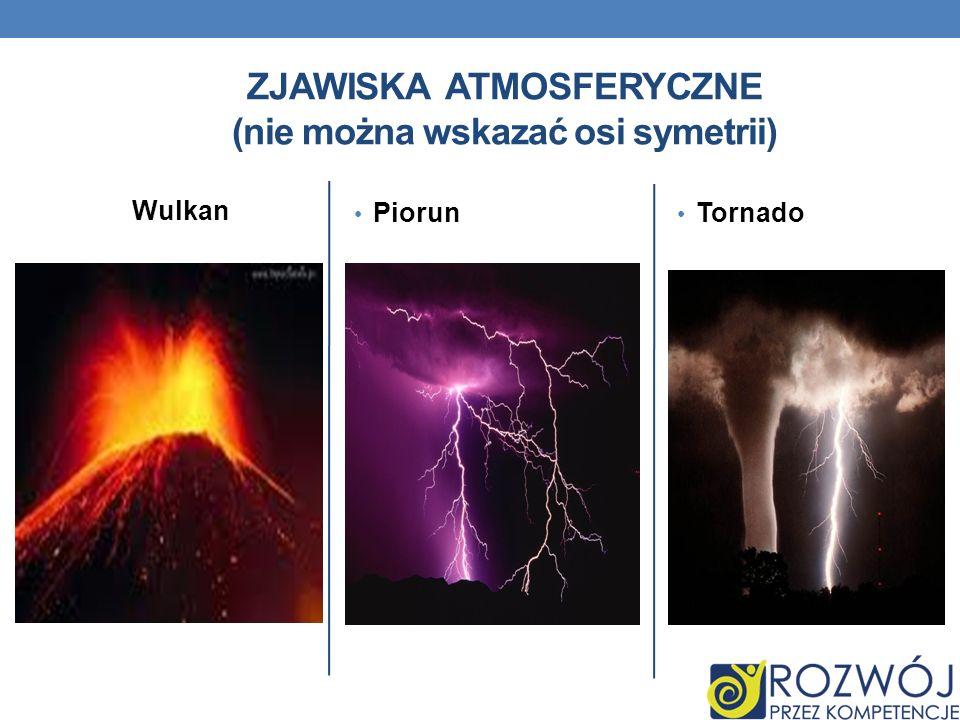 Wulkan Piorun Tornado ZJAWISKA ATMOSFERYCZNE (nie można wskazać osi symetrii)