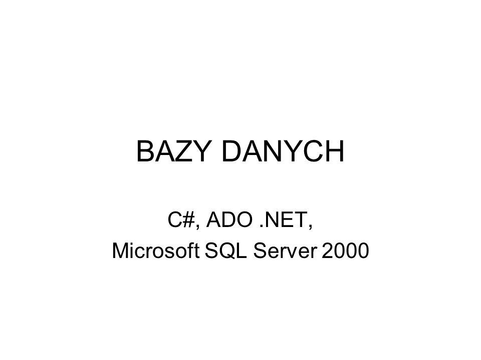 Czym jest ADO.NET.