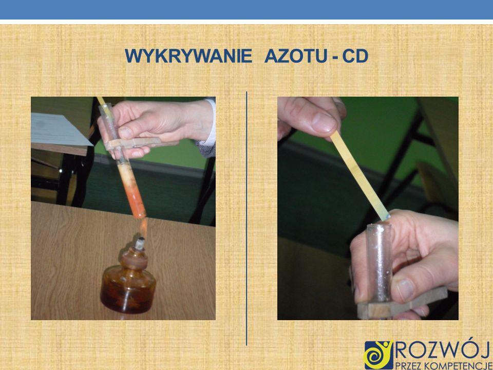 WYKRYWANIE AZOTU - CD