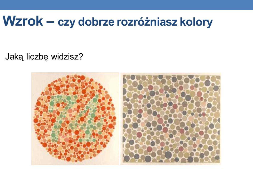 Jaką liczbę widzisz? Wzrok – czy dobrze rozróżniasz kolory