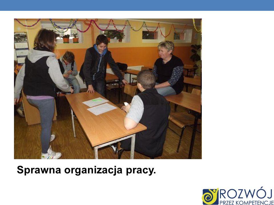Sprawna organizacja pracy.