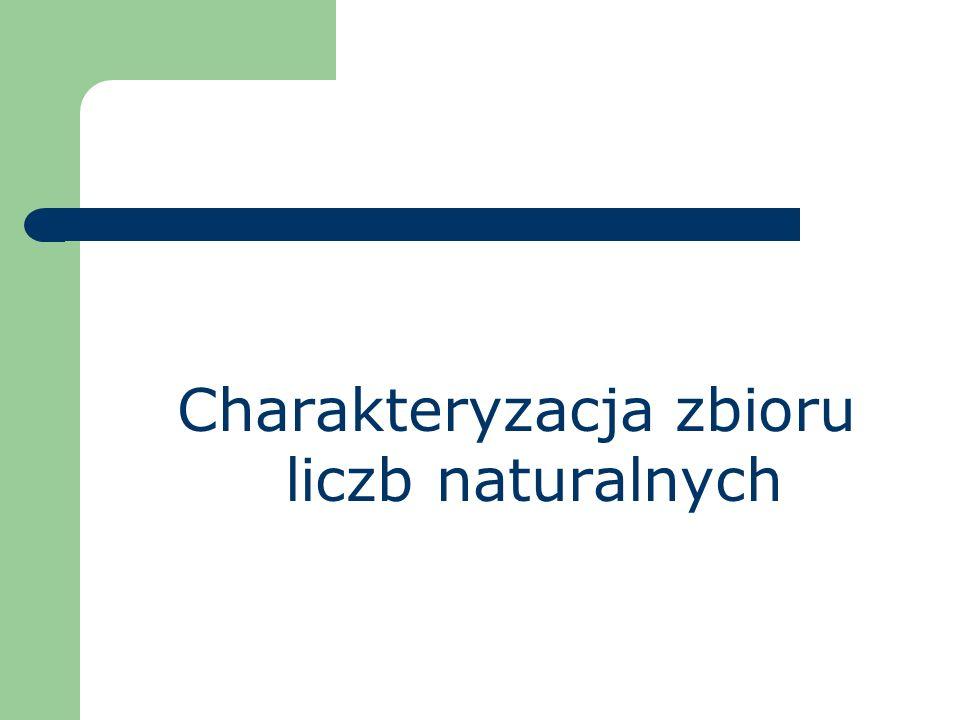 Charakteryzacja zbioru liczb naturalnych