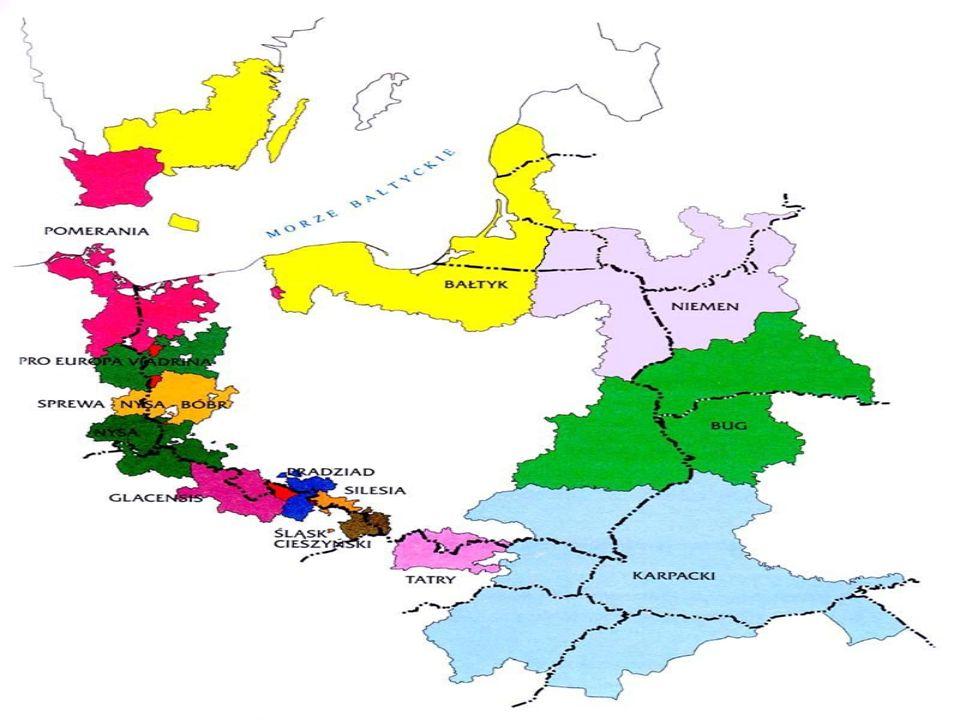 Pojęcia podstawowe: EUROREGION - forma współpracy transgranicznej pomiędzy regionami państw członkowskich Unii Europejskiej, państw kandydujących oraz regionami ich sąsiadów.