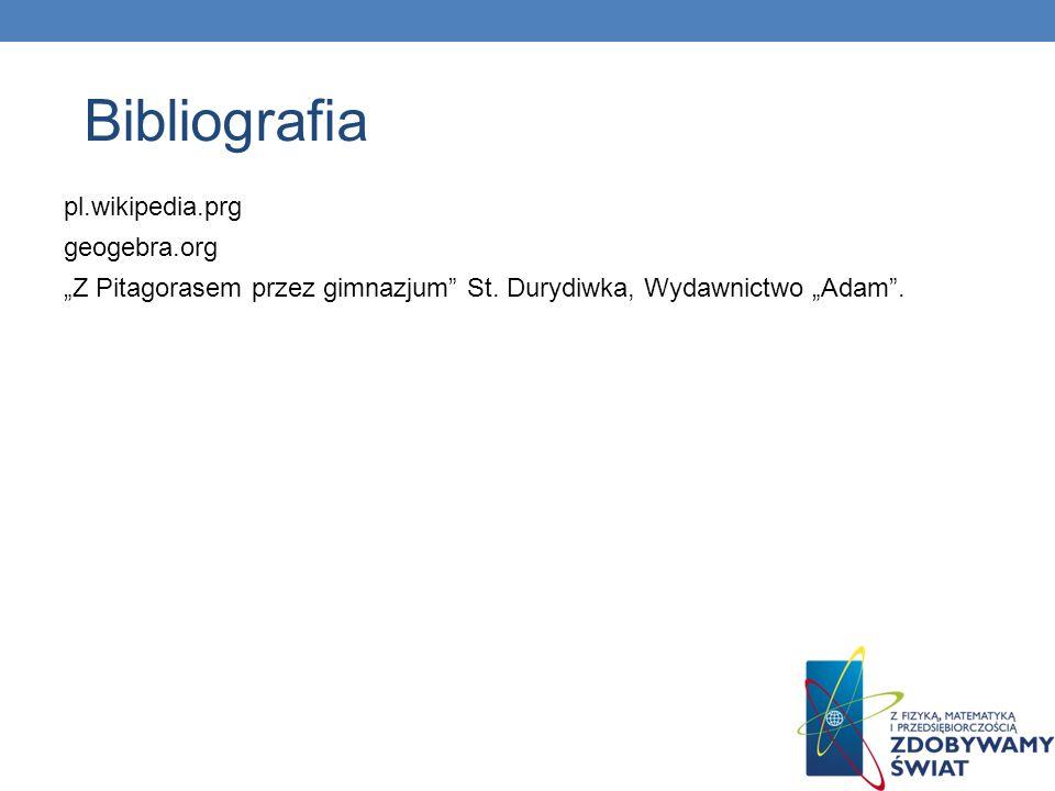 pl.wikipedia.prg geogebra.org Z Pitagorasem przez gimnazjum St. Durydiwka, Wydawnictwo Adam. Bibliografia