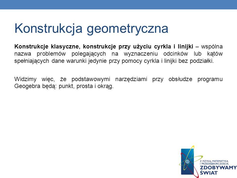 Konstrukcje klasyczne, konstrukcje przy użyciu cyrkla i linijki – wspólna nazwa problemów polegających na wyznaczeniu odcinków lub kątów spełniających