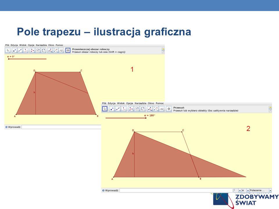 Pole trapezu – ilustracja graficzna 1 2