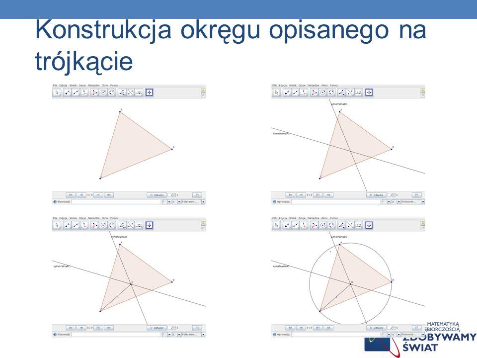 Konstrukcja okręgu opisanego na trójkącie