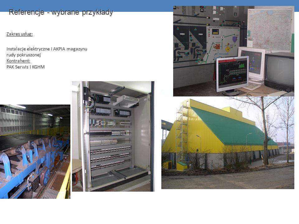 Zakres usług: Instalacje elektryczne i AKPiA magazynu rudy pokruszonej Kontrahent: PAK Serwis i KGHM