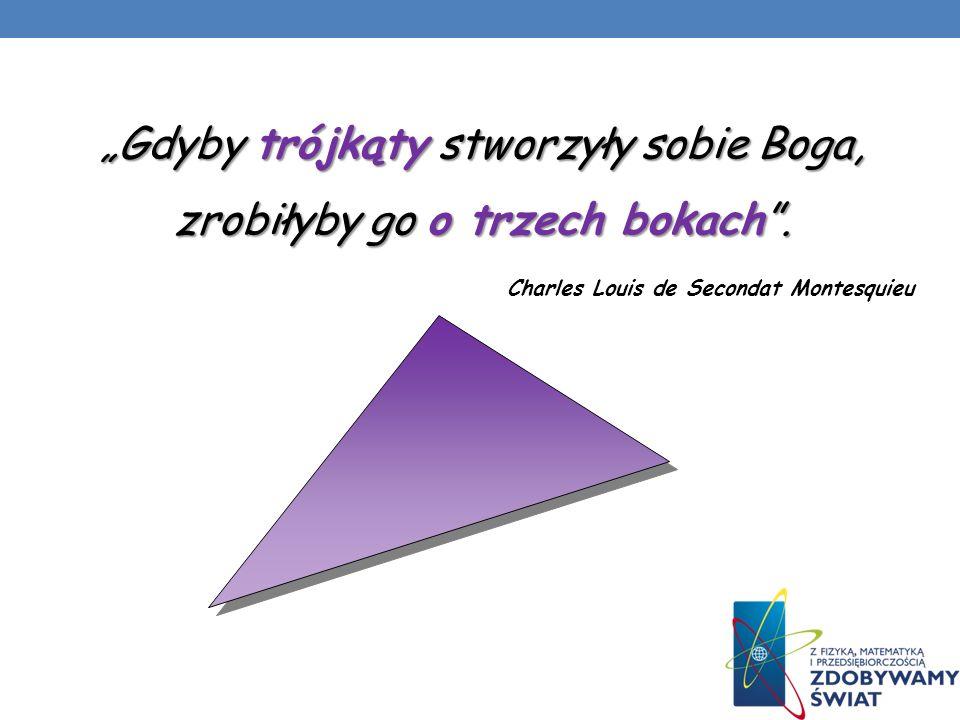Kraina trójkątów Uczymy się przez zabawę … W pewnym niezwykłym i tajemniczym królestwie wszystko było trójkątne.