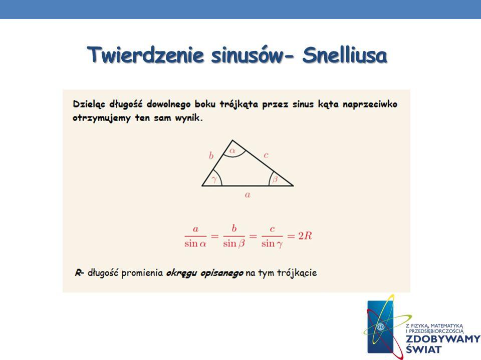 Twierdzenie sinusów- Snelliusa