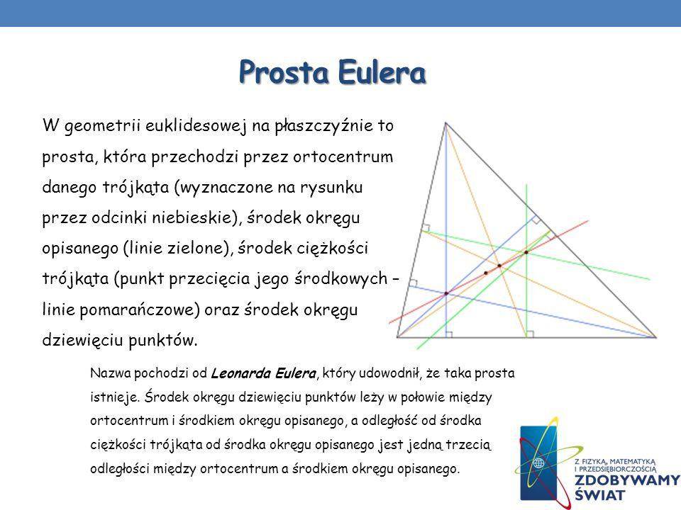 W geometrii euklidesowej na płaszczyźnie to prosta, która przechodzi przez ortocentrum danego trójkąta (wyznaczone na rysunku przez odcinki niebieskie
