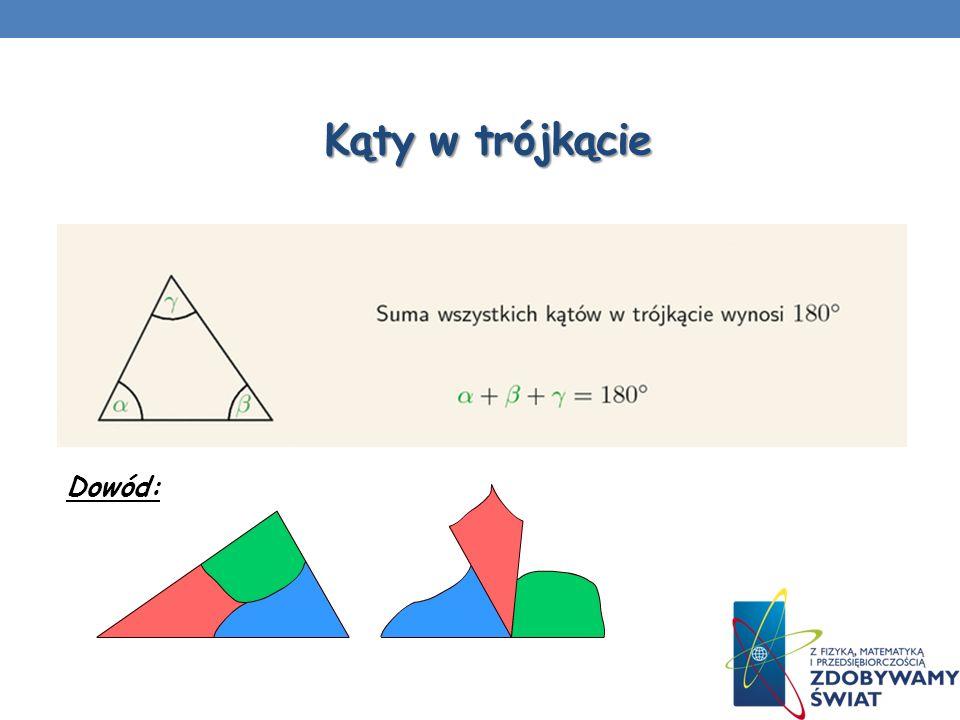 Zadanie 1 Oblicz miary kątów w trójkącie, jeżeli ich wzajemny stosunek wynosi 3: 2: 4.