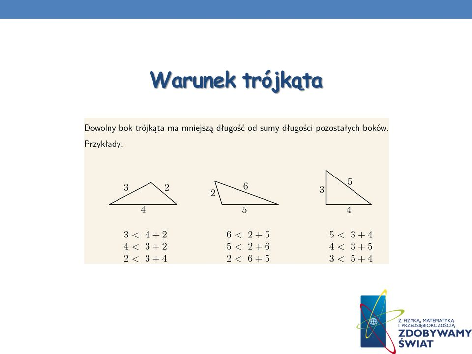 Twierdzenie Pitagorasa Założenie: Jeżeli trójkąt jest prostokątny, Teza : to zachodzi równość Odkrycie tego twierdzenia w naszym zachodnio-europejskim kręgu kulturowym przypisywane jest żyjącemu w VI wieku p.n.e.