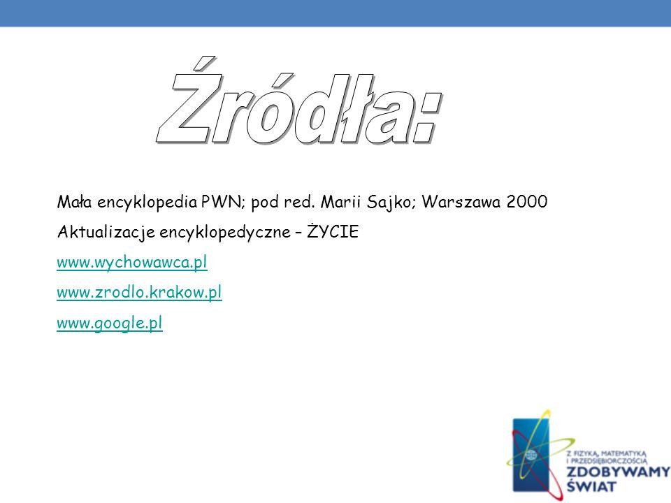 Mała encyklopedia PWN; pod red.