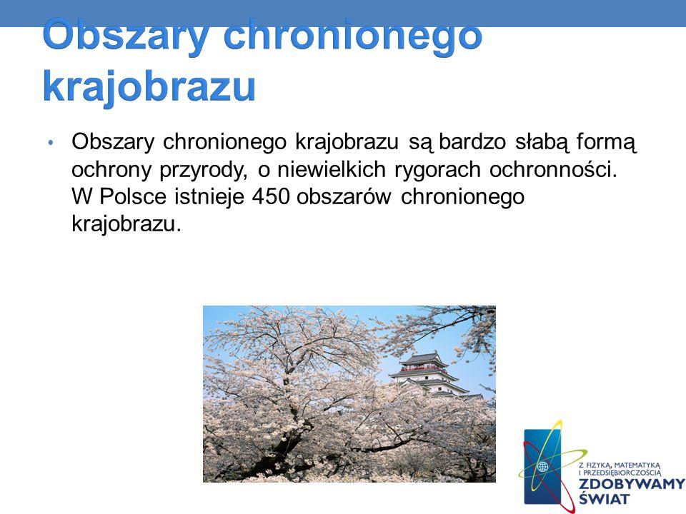 Obszary chronionego krajobrazu są bardzo słabą formą ochrony przyrody, o niewielkich rygorach ochronności. W Polsce istnieje 450 obszarów chronionego