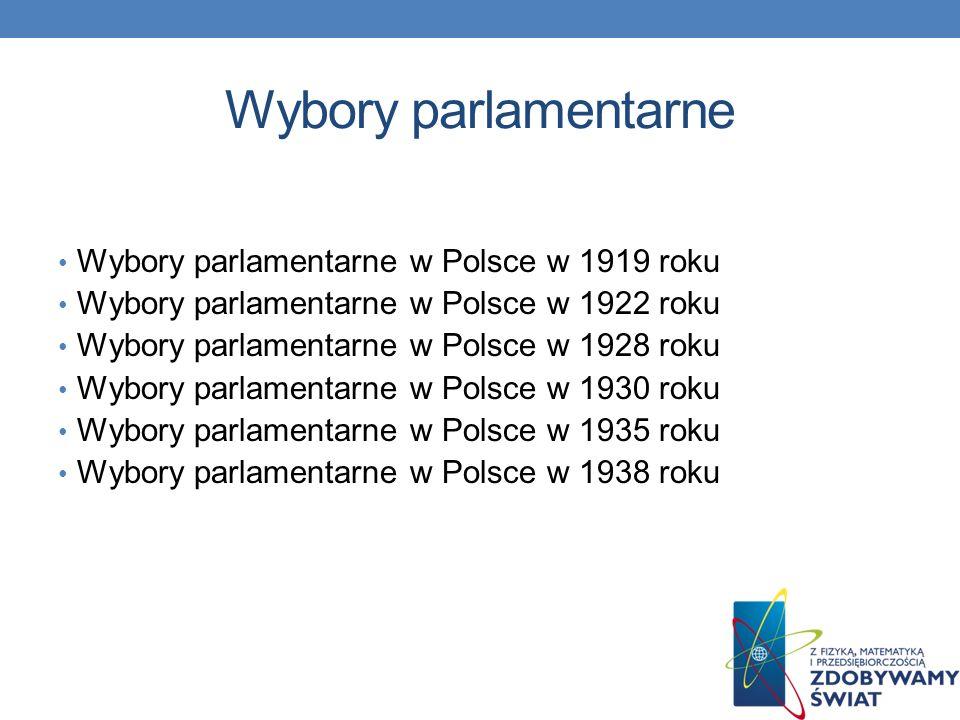 Historia wyborów w Polsce Konstytucja kwietniowa, wprowadzająca system prezydencki, zmieniła system wyborów na nieproporcjonalne i nie całkiem wolne – 1/3 senatorów mianował Prezydent RP.