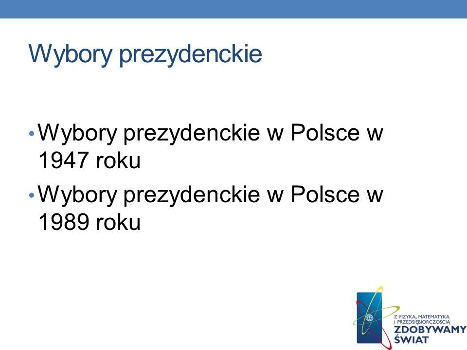 Wybory parlamentarne PRL Wybory parlamentarne w Polsce w 1947 roku Wybory parlamentarne w Polsce w 1952 roku Wybory parlamentarne w Polsce w 1957 roku