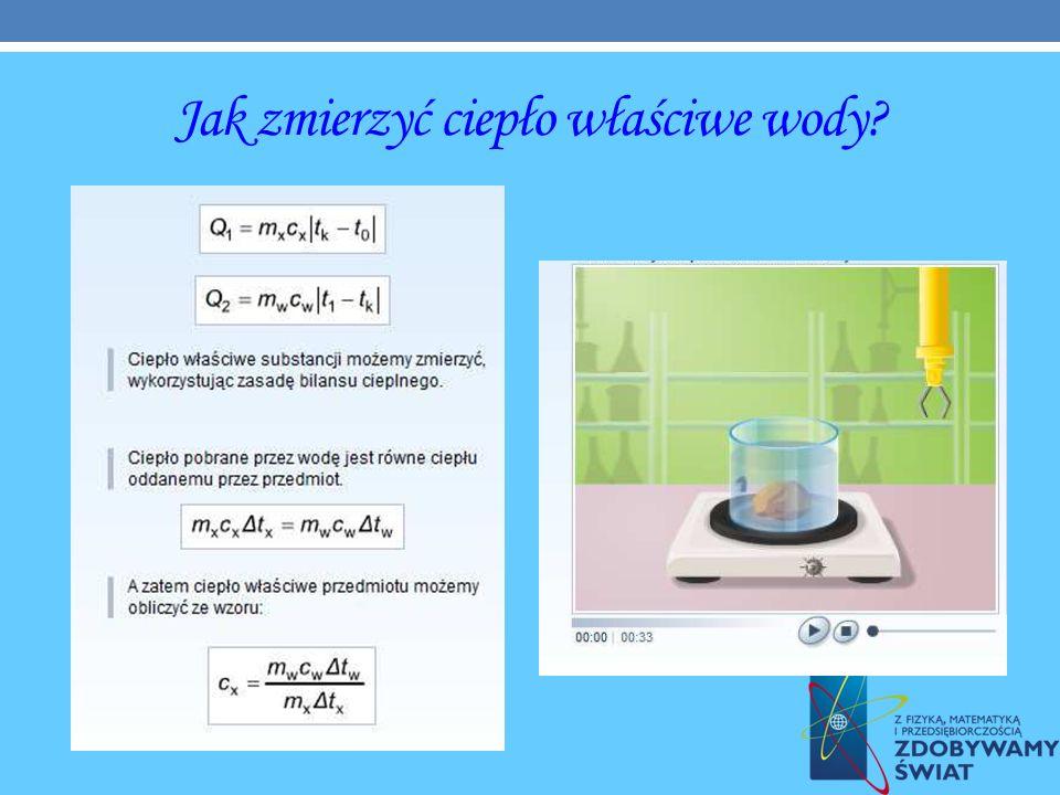 Jak zmierzyć ciepło właściwe wody?