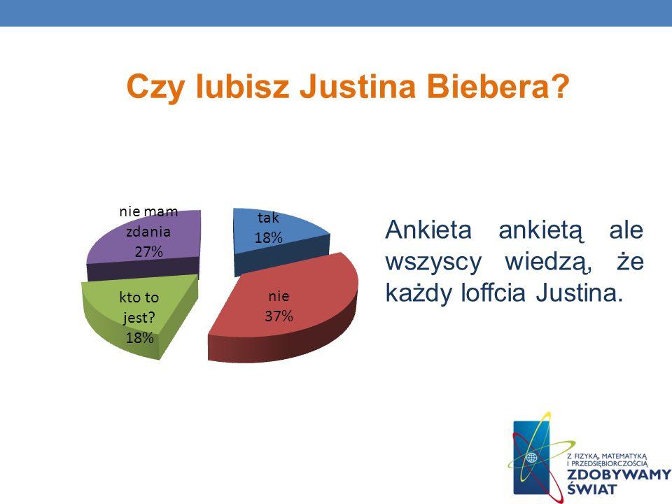 Ankieta ankietą ale wszyscy wiedzą, że każdy loffcia Justina. Czy lubisz Justina Biebera?