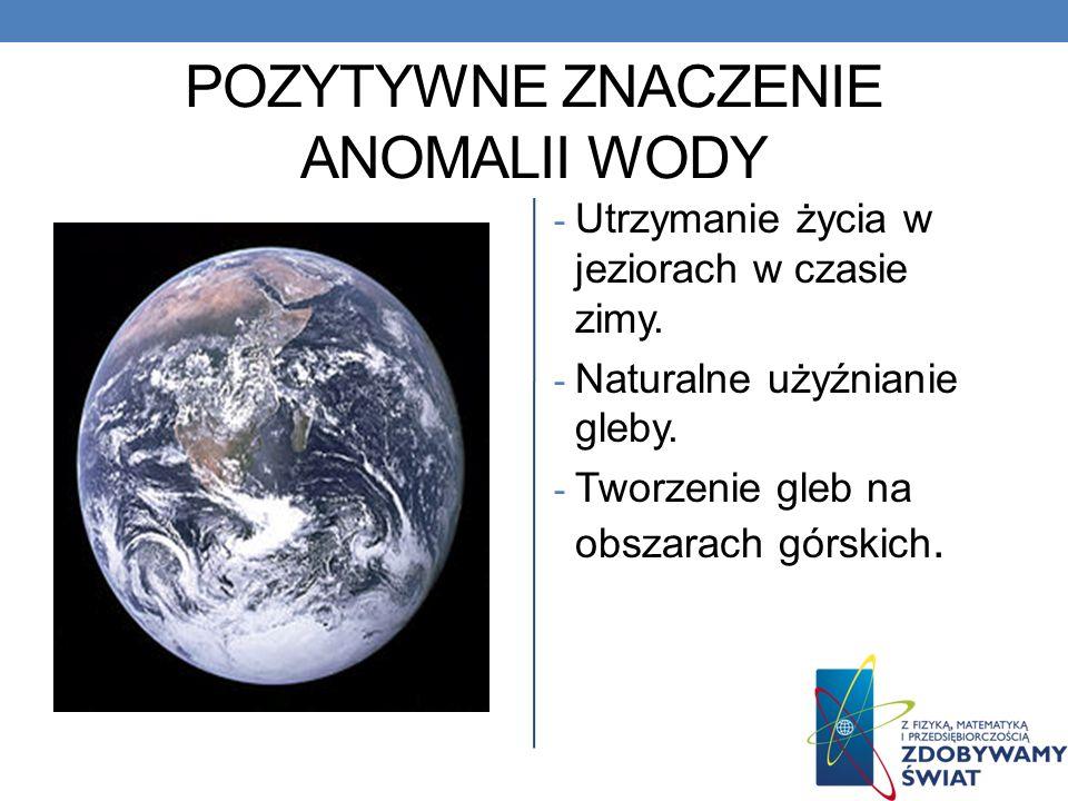 Jednak woda jest anomalią!!! Okazuje się, że poprzednie doświadczenie nie mówi całej prawdy o naszej życiodajnej wodzie. Woda w przedziale temperatur