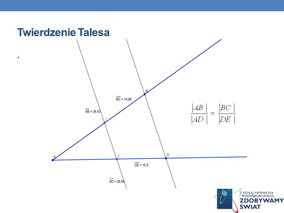 Twierdzenie Talesa Treść slajdu
