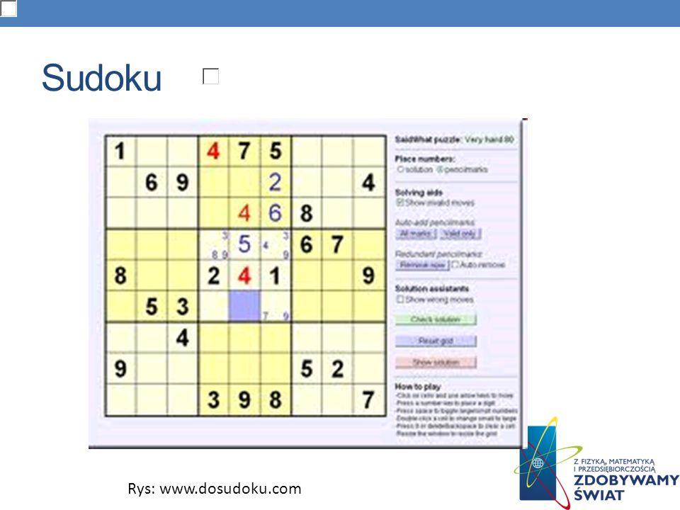 Sudoku Rys: www.dosudoku.com