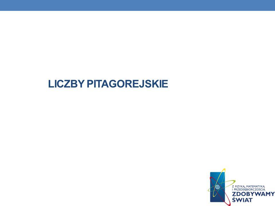 LICZBY PITAGOREJSKIE