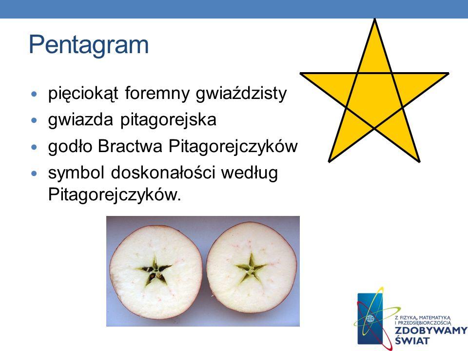Pentagram pięciokąt foremny gwiaździsty gwiazda pitagorejska godło Bractwa Pitagorejczyków symbol doskonałości według Pitagorejczyków.