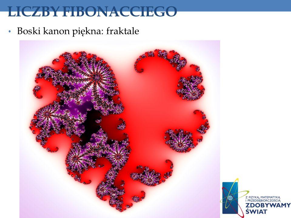 LICZBY FIBONACCIEGO Boski kanon piękna: fraktale 155