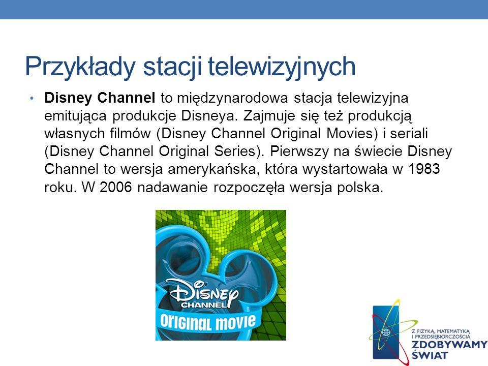 Przykłady stacji telewizyjnych Czwórka (TV 4) – stacja należąca formalnie do holdingu Polskie Media (w 90% należy do telewizji Polsat i ok.