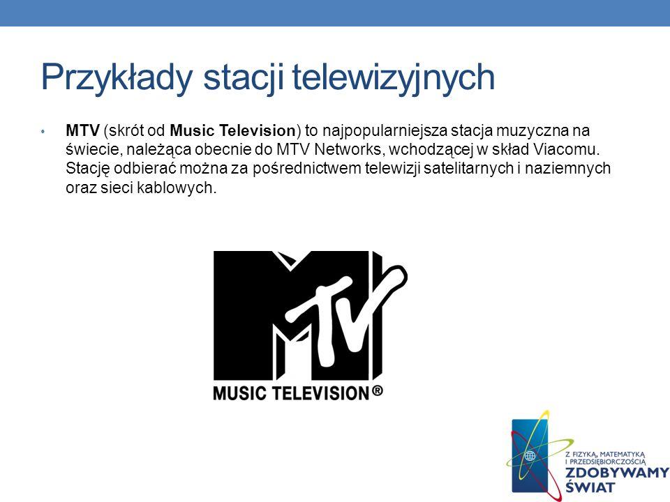 Przykłady stacji telewizyjnych Polsat Café – kanał lifestyle Telewizji Polsat dostępny na platformach Cyfrowy Polsat i CYFRA+ oraz sieciach kablowych, który zastąpił stację Polsat Zdrowie i Uroda.