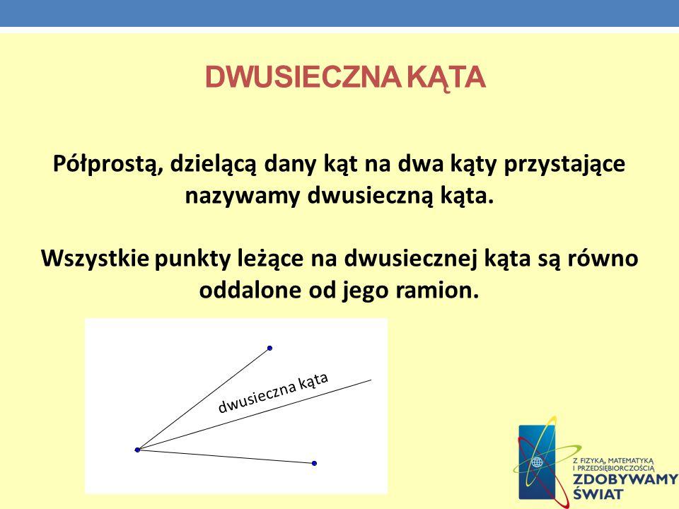 jeżeli dwa boki i kąt między nimi zawarty jednego trójkąta są odpowiednio równe dwóm bokom i kątowi między nimi zawartemu drugiego trójkąta, to trójkąty są przystające.