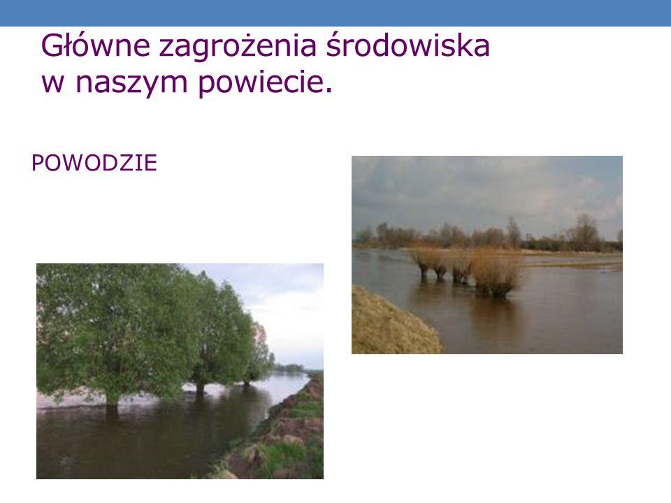 Główne zagrożenia środowiska w naszym powiecie. POWODZIE