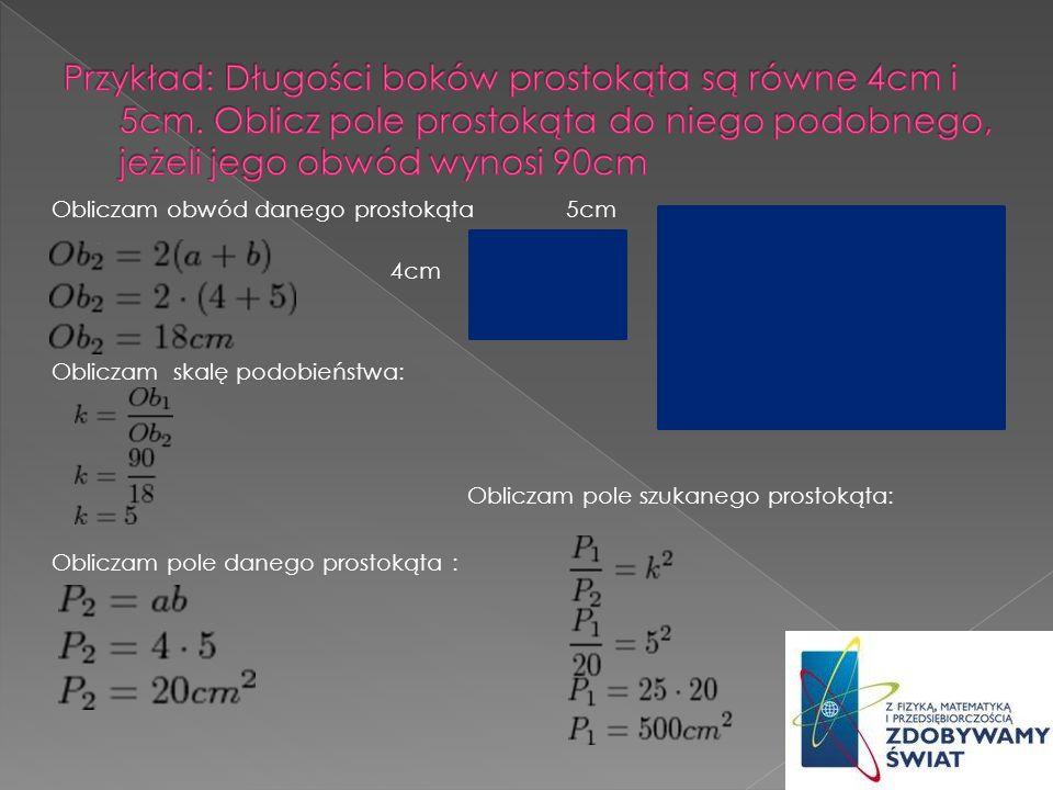 Wykorzystanie twierdzenia Talesa TWIERDZENIE TALESA Jeżeli ramiona kąta AOB przetniemy dwiema prostymi równoległymi, to stosunek długości odcinków na jednym ramieniu jest równy stosunkowi długości odcinków leżących na drugim ramieniu kąta.
