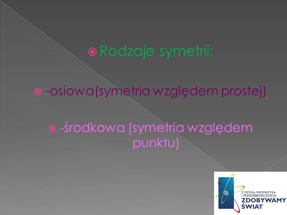 (symetria względem osi) - odwzorowanie geometryczne płaszczyzny lub przestrzeni, które dla ustalonej osi tj.