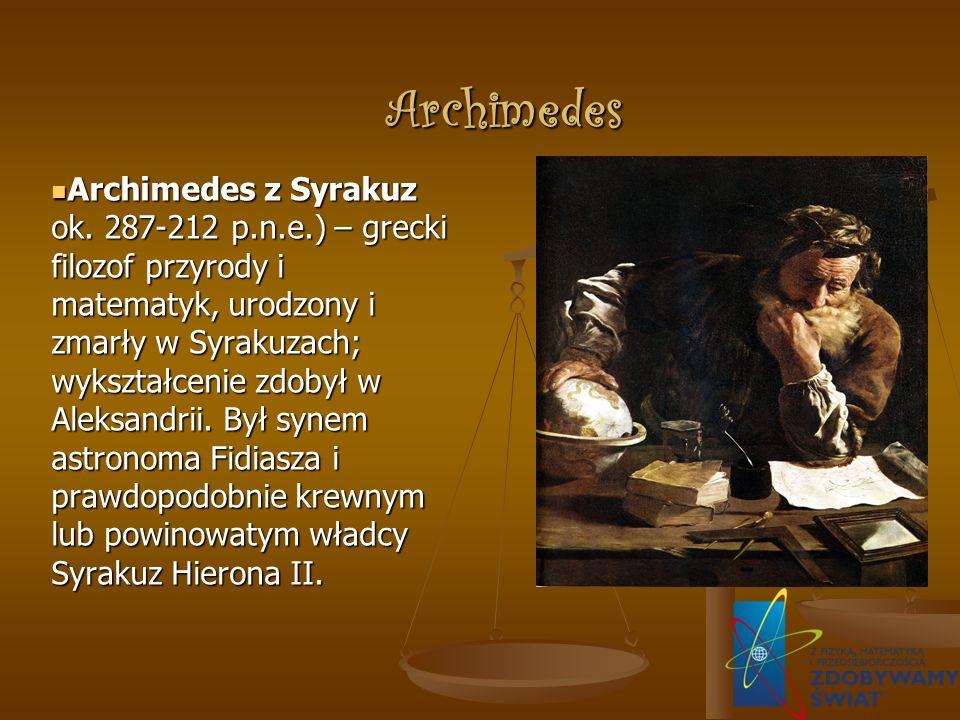 Archimedes Archimedes z Syrakuz ok.