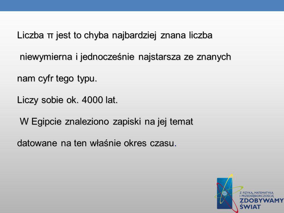 Bibliografia http://www.racjonalista.pl/kk.php/s,6514 http://pl.wikipedia.org/wiki/Pi http://www.matematyka.wroc.pl/book/wis%C5%82awa- szymborska,-%2526quot%3Bliczba-pi%2526quot%3B http://www.matematyka.wroc.pl/book/wis%C5%82awa- szymborska,-%2526quot%3Bliczba-pi%2526quot%3B http://www.matematyka.wroc.pl/book/wis%C5%82awa- szymborska,-%2526quot%3Bliczba-pi%2526quot%3B http://www.matematyka.wroc.pl/book/wis%C5%82awa- szymborska,-%2526quot%3Bliczba-pi%2526quot%3B http://www.matematyka.wroc.pl/book/wis%C5%82awa- szymborska,-%2526quot%3Bliczba-pi%2526quot%3B http://www.matematyka.wroc.pl/book/wis%C5%82awa- szymborska,-%2526quot%3Bliczba-pi%2526quot%3B