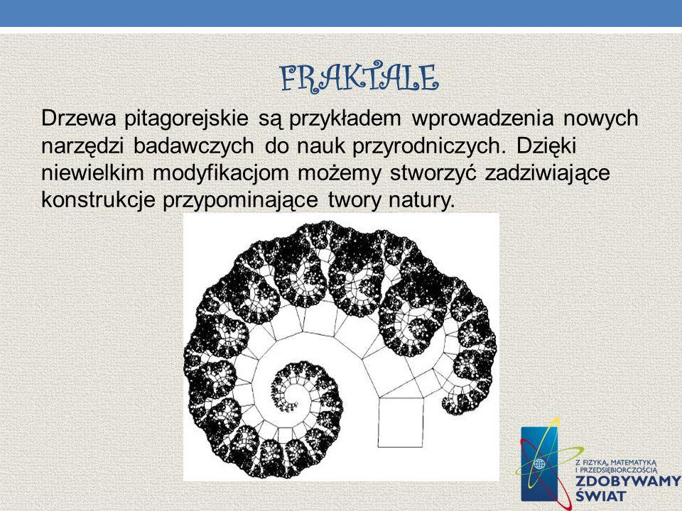 FRAKTALE Drzewa pitagorejskie są przykładem wprowadzenia nowych narzędzi badawczych do nauk przyrodniczych.