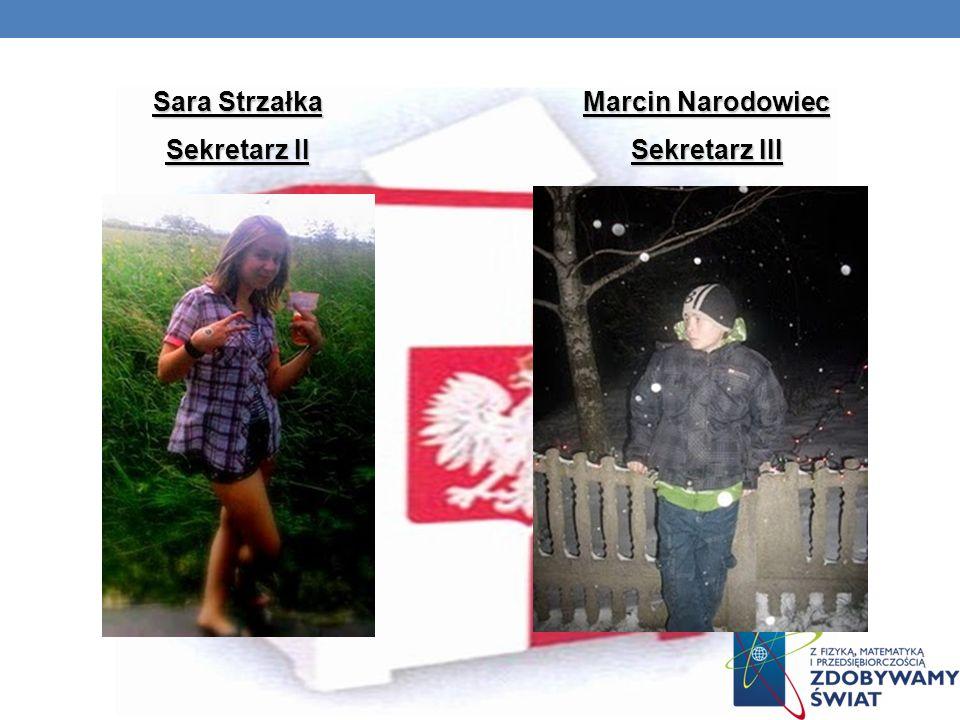 Sara Strzałka Sekretarz II Marcin Narodowiec Sekretarz III