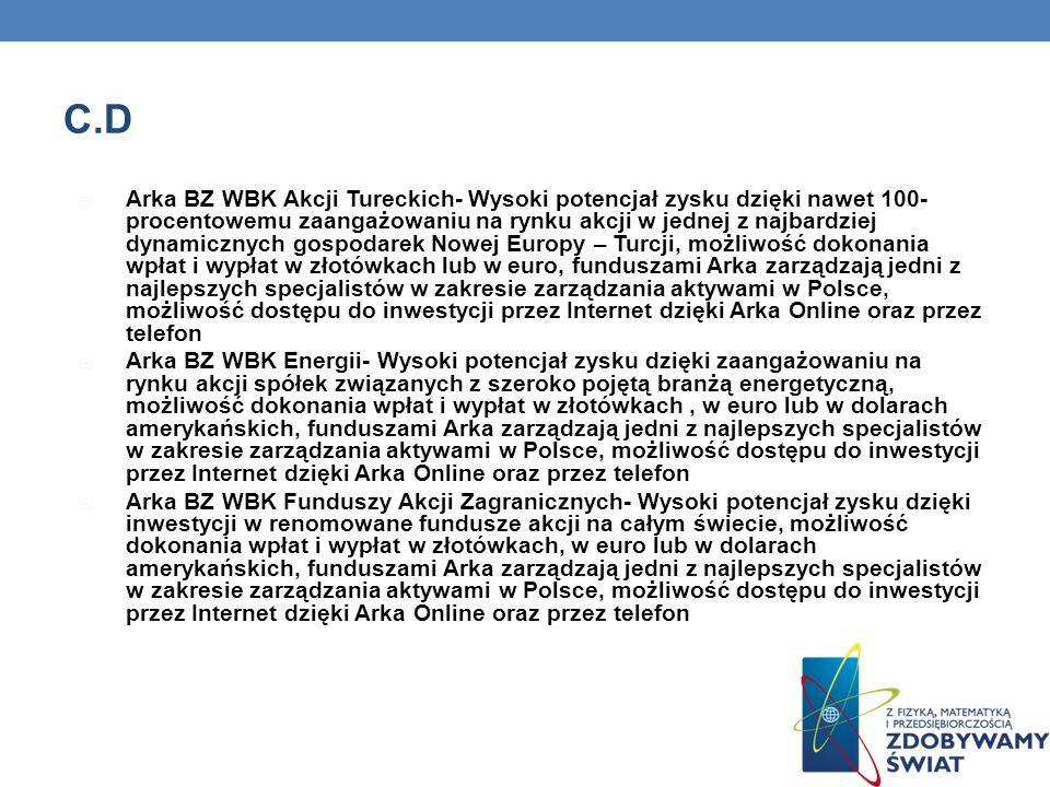 C.D Arka BZ WBK Akcji Tureckich- Wysoki potencjał zysku dzięki nawet 100- procentowemu zaangażowaniu na rynku akcji w jednej z najbardziej dynamicznyc