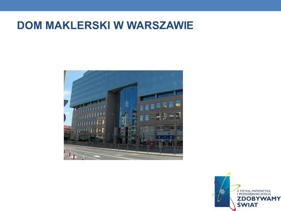 DOM MAKLERSKI W WARSZAWIE